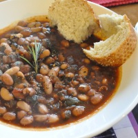 Mixed bean and red wine cassoulet
