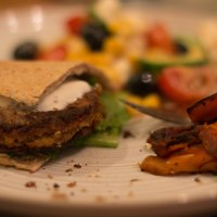Falafel 'Burgers' with Greek Salad