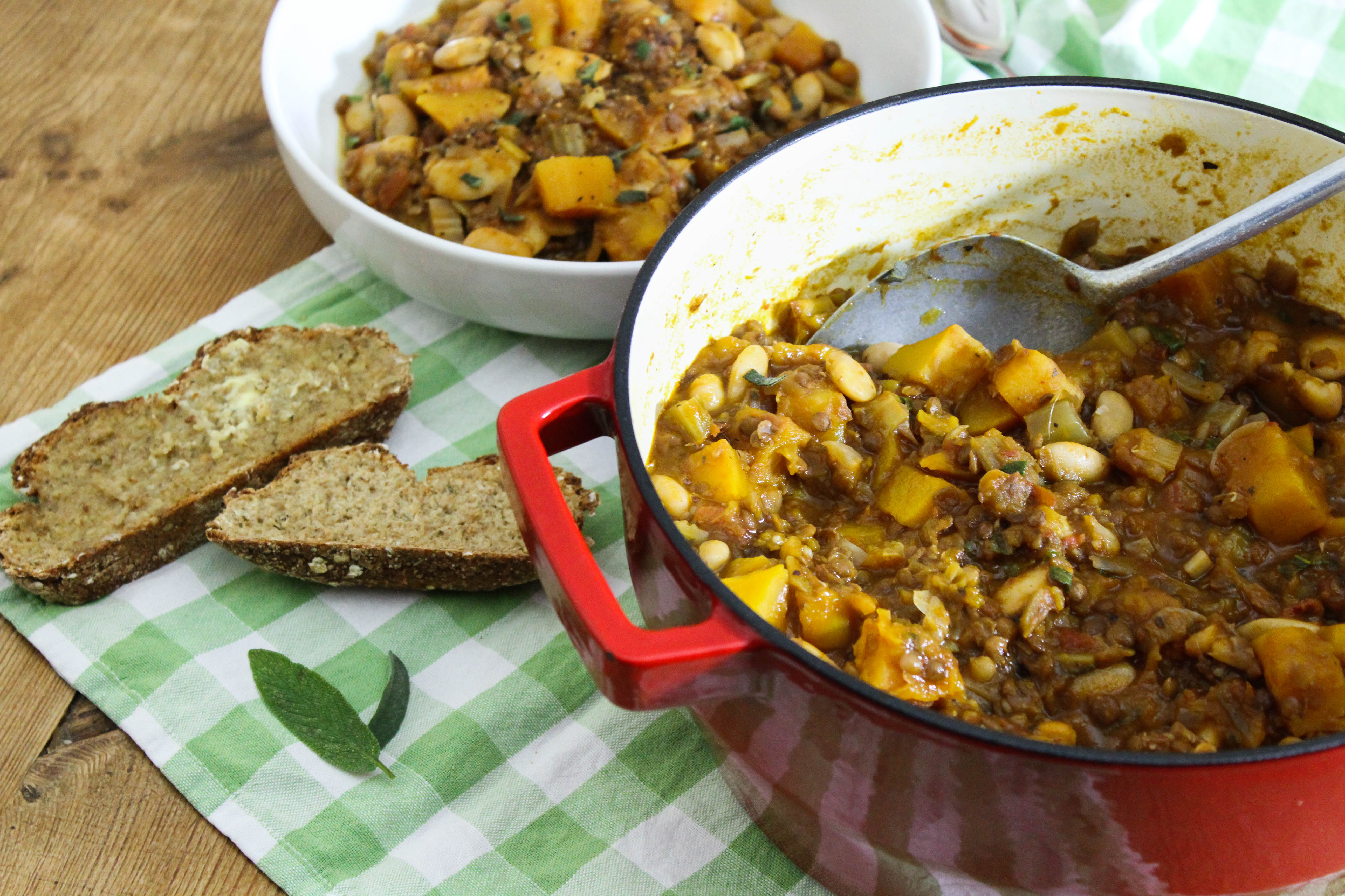 Pumpkin, Bean and Lentil Stew – Bryony's Kitchen