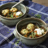 Lentil Stew Recipe with Parsley Dumplings