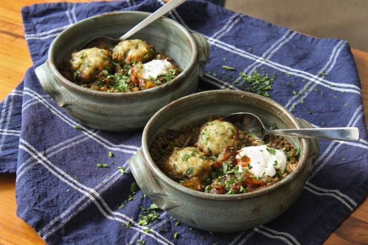 Lentil Stew Recipe with Parsley Dumplings