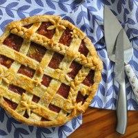 Rhubarb & Ginger Lattice Pie