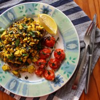 Wild Garlic & Parsley Tofu Scramble Recipe