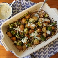 New Potato, Broccoli & Asparagus Traybake Recipe