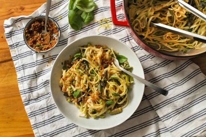 one pot asparagus pasta recipe vegan