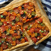 Roasted Tomato & Caramelised Onion Tart Recipe