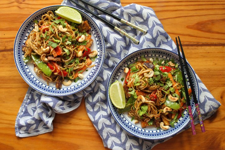 Peanut butter and Szechuan noodles