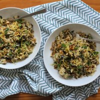 Lemony Aubergine & Wild Garlic Rice Recipe