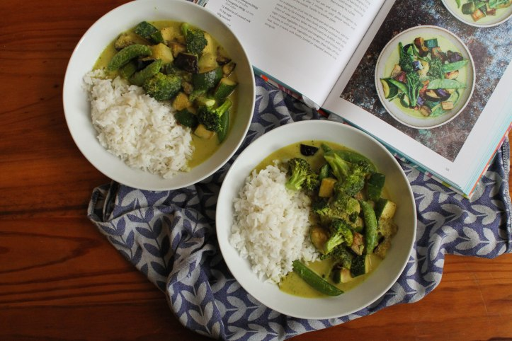 Meera Sodha's Thai Green Curry with aubergines, courgettes & mangetout