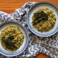 Purple Sprouting Broccoli Risotto Recipe